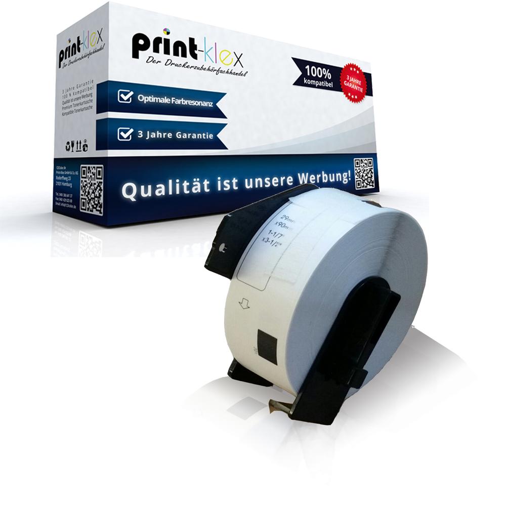 10x Etiketten für Brother DK-11201 DK11201 29 x 90 mm 400 Labels pro Rolle