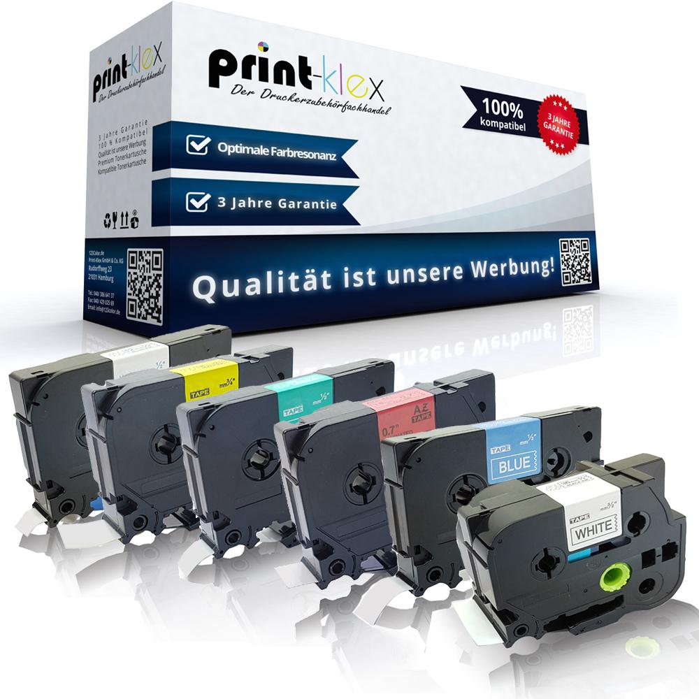 5x Kompatible Drucker Schriftbänder für Brother TZE921 Schwarz auf Silber-Office