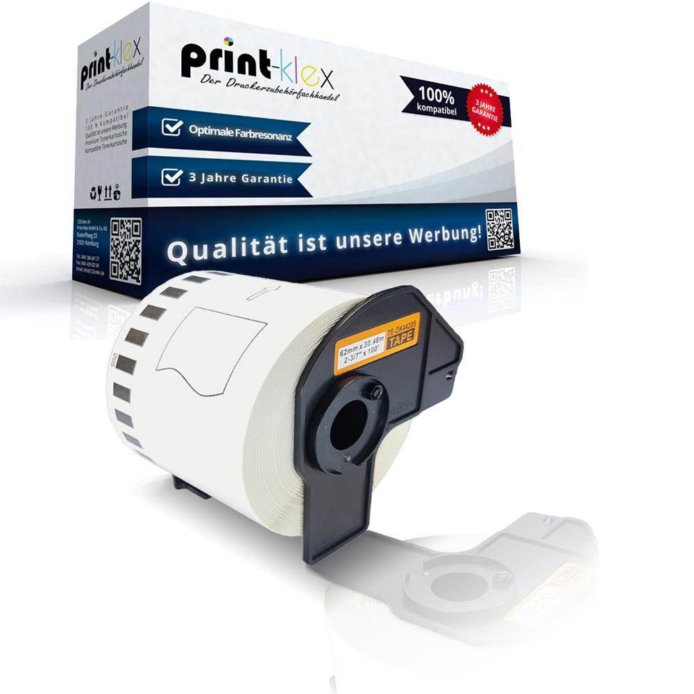 ENDLOS DRUCKER ETIKETTEN 62mm x 30.48m WASSERFEST für BROTHER P-touch QL-1050 N