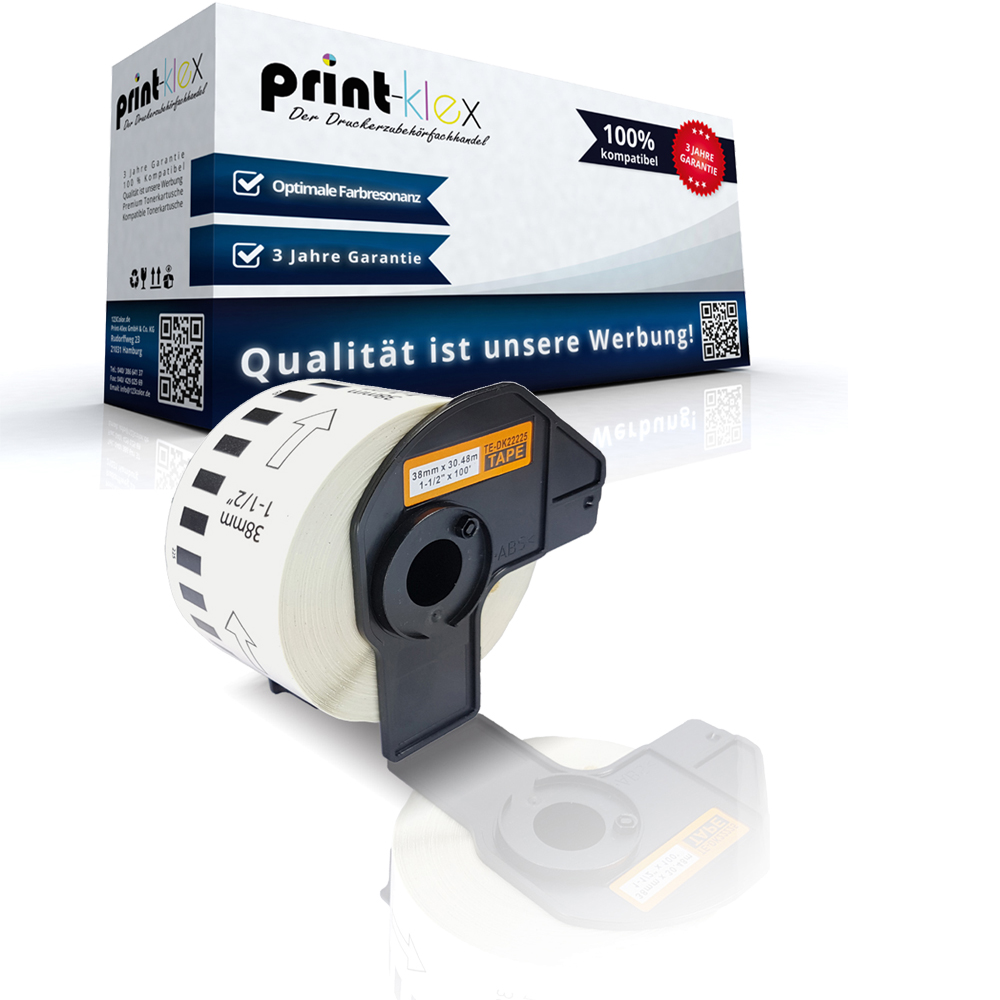 Office Plus Serie 5x Alternative Etiketten Rollen für Brother DK11208 Label