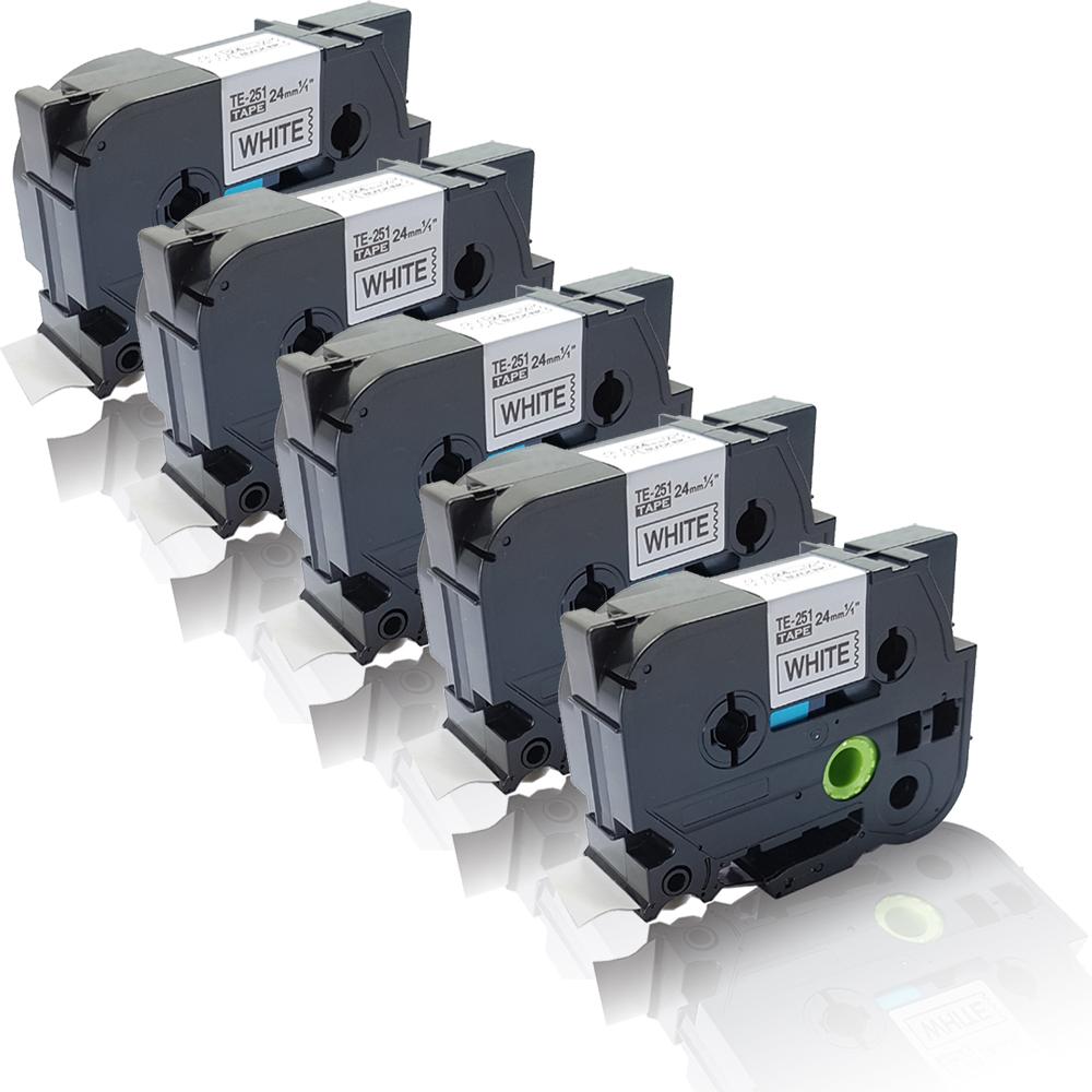 2x kompatible Ersatz Etiketten Rollen für Brother P-Touch-QL-700 Schrif Quantum