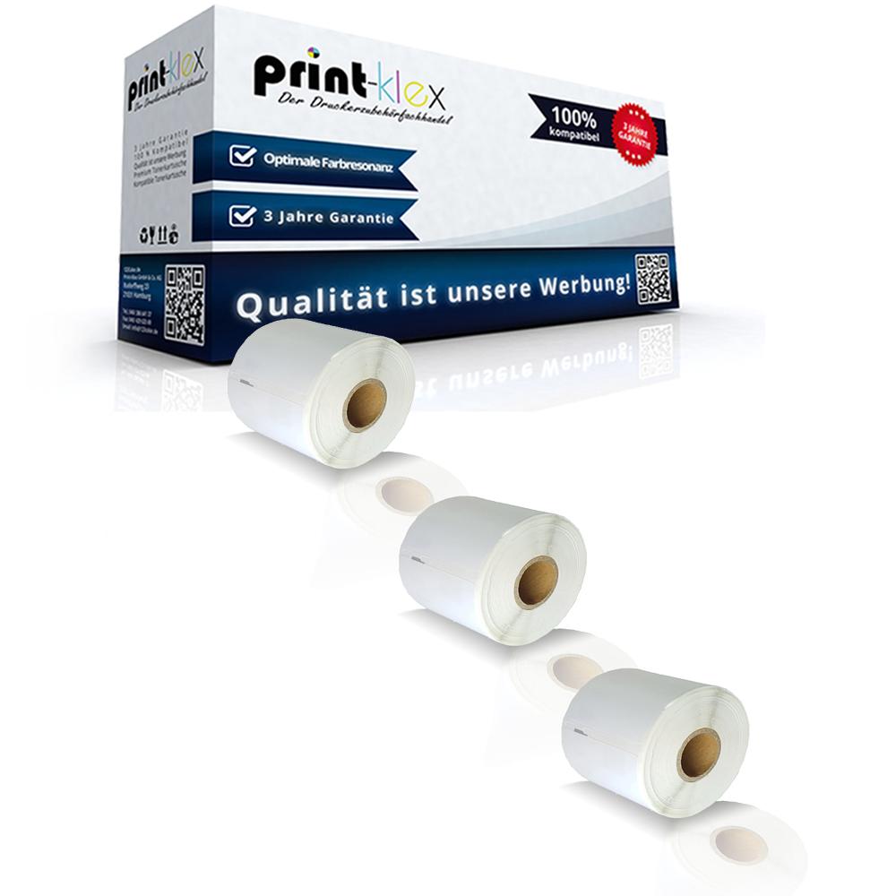 3x Ersatz Etiketten Rollen für Dymo 99015 Labelwriter 310 320 330 400 450 Twin