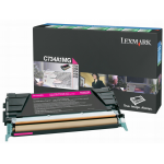 Original Lexmark C734A1CG Toner-Kit cyan return program